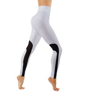 2/$26 3/$36 Workout Leggings With Mesh Solid Color